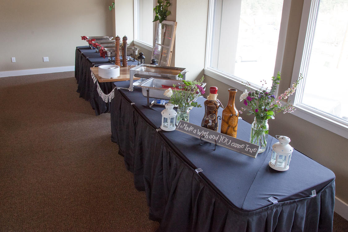Buffet Setup at 800 Moraine Event Space