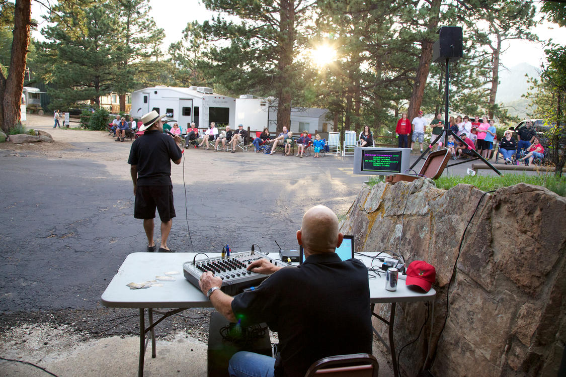 Evening Karaoke at Manor RV Park