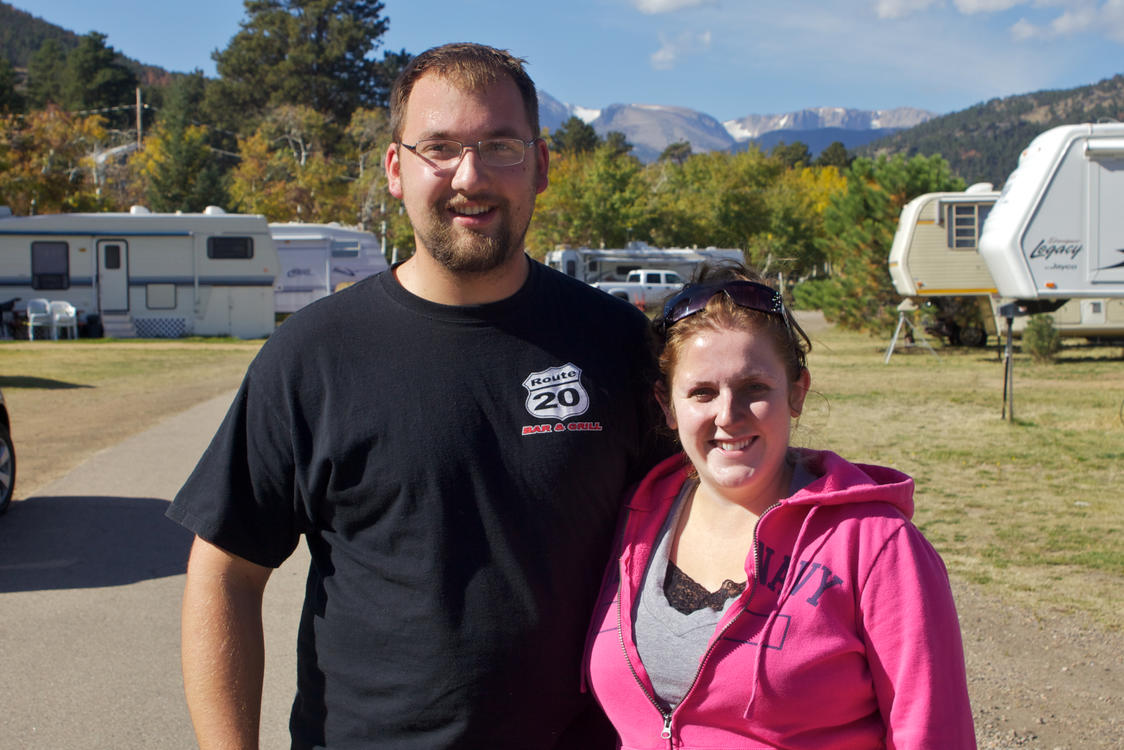 Couple Enjoying Manor RV Park