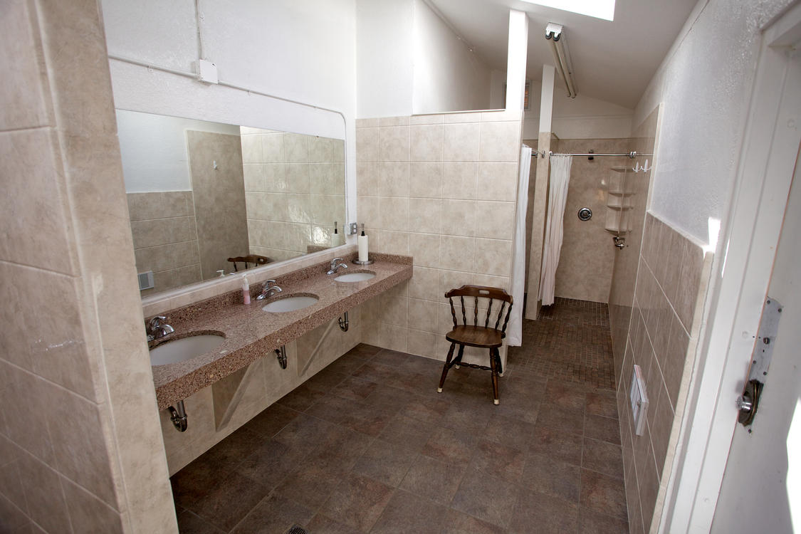 Bathrooms Area at Manor RV Park