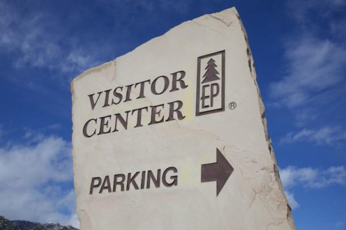 Estes Park Visitor Center Sign