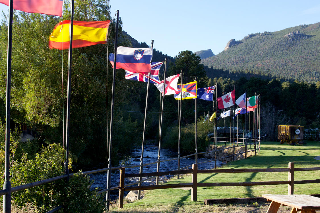 International Flags at Trout Haven Resorts