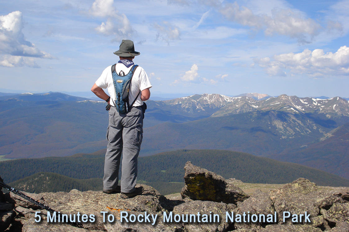 Man at Rocky Mountain National Park