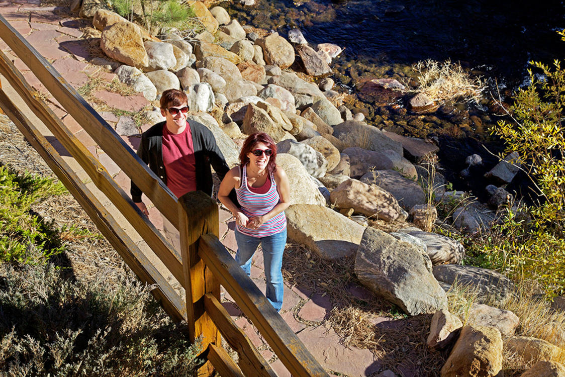Couple Enjoy Beaver Brook in Estes Park
