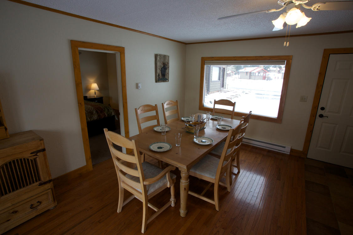 Dining Room at Brook Trout Property