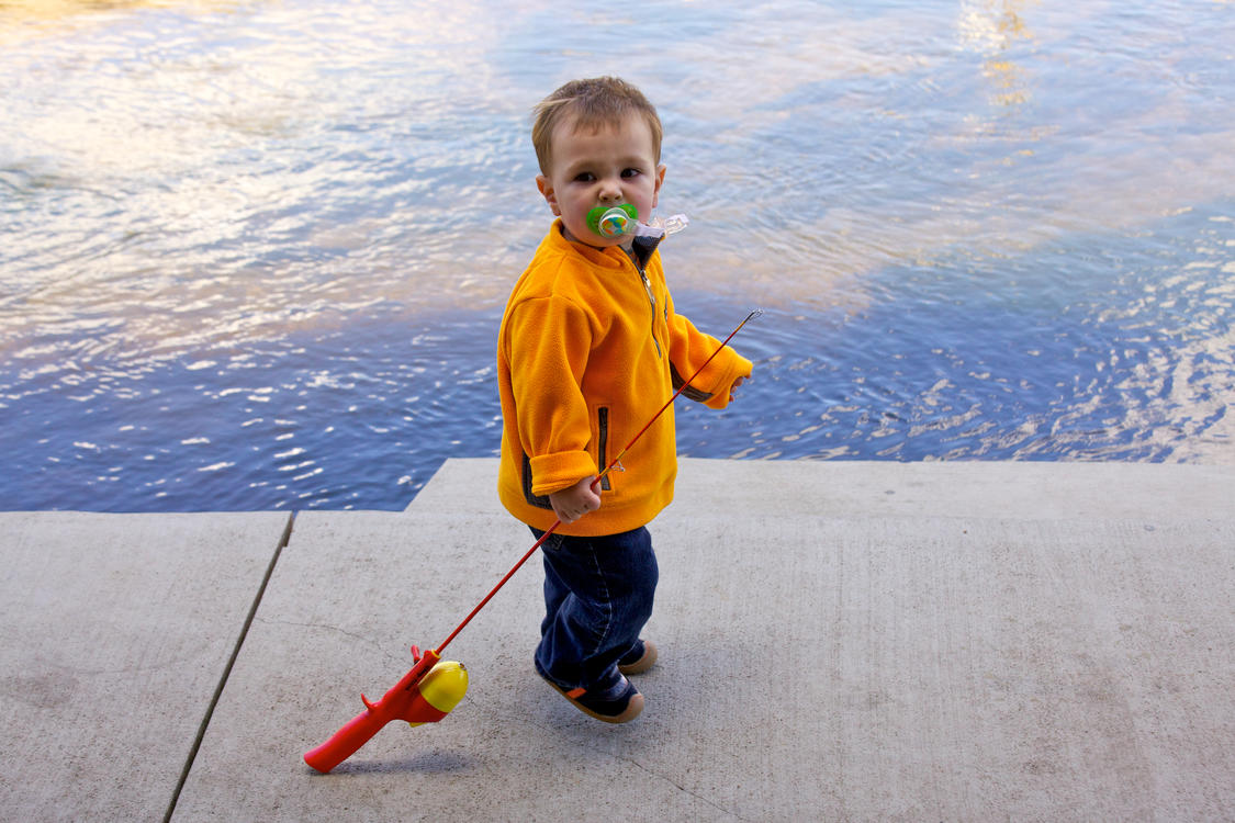 Toddler Fishing at Trout Haven Fishing Pond