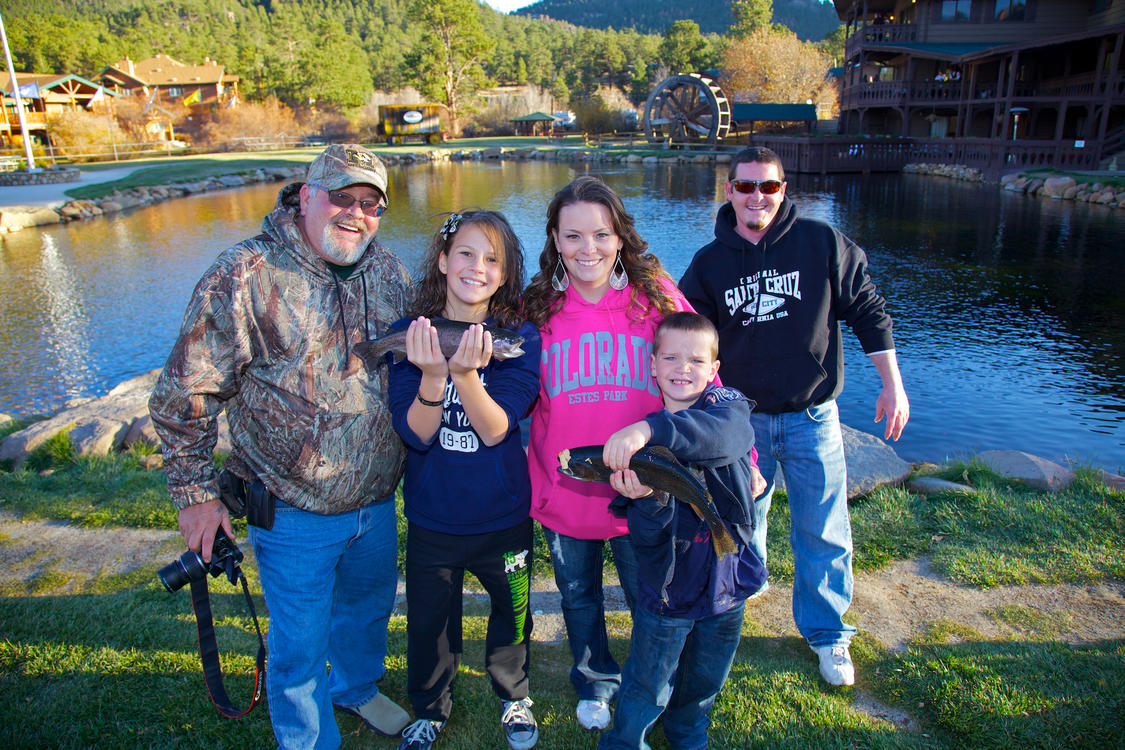Family Fishing at Trout Haven Pond