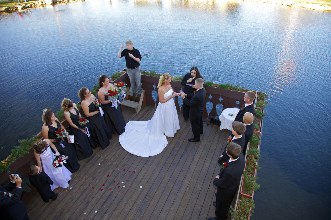 Wedding Ceremony at Trout Haven Fishing Pond
