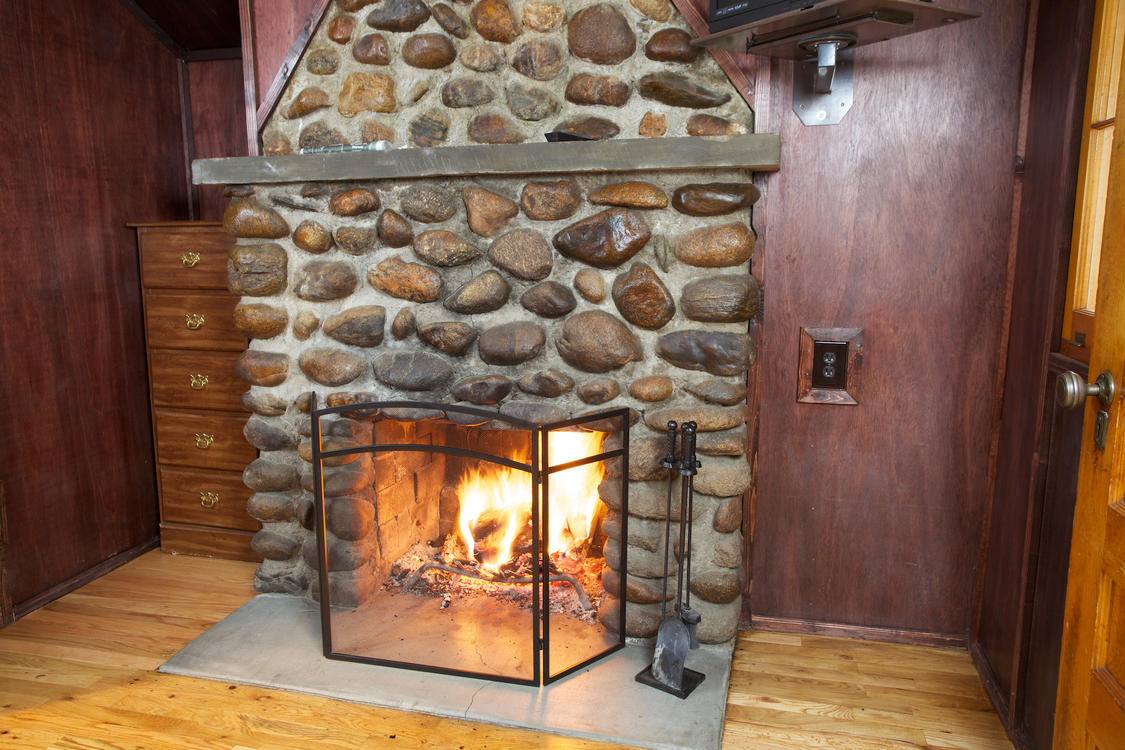 Roaring Fire at Tiny Town Cabins