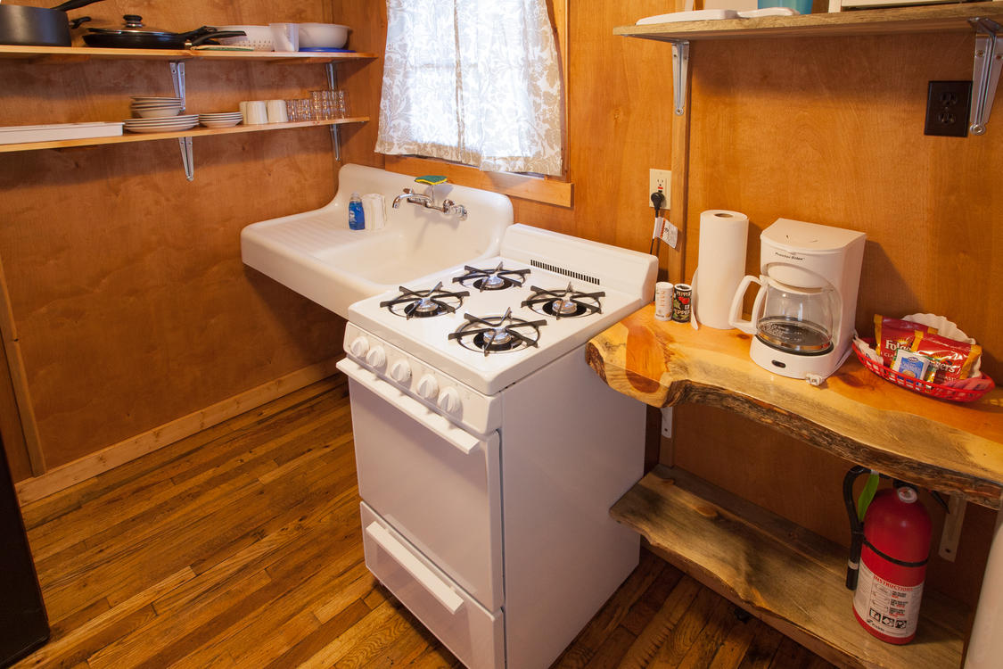 Tiny Town Cabin Kitchen